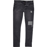 Gute Qualität River Island Herren Graue Skinny Jeans im Used - Look Q48a2772