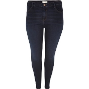 Einfach River Island Damen Plus – Amelie – Superskinny Jeans in dunkler Waschung Q10l4906